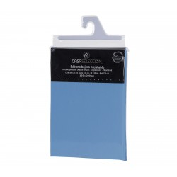 Sábana bajera cama 135 azul 200 x 135 x 30 cm algodon/ poliester.