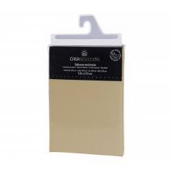 Sábana encimera basica lisas cama 135 beige 270 x 210 cm algodon/poliester.