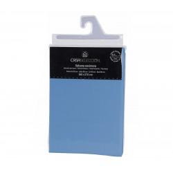 Sábana encimera basica lisas cama 90 azul 270 x 160 cm algodon/poliester.