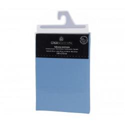 Sábana encimera basica lisas cama 135 azul 270 x 210 cm algodon/poliester.