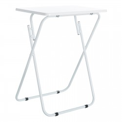 Mesa plegable clásico blanca de madera para terraza Basic