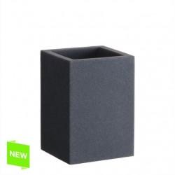 Vaso de arena piedra color negro