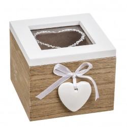 Caja multiusos de madera romántica para decoracion iris
