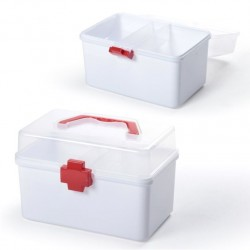 Caja de botiquin auxiliar con tapa transparente