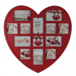 Portafotos múltiple romántico rojo de plástico para decoración France