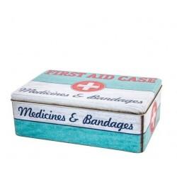 Caja metal de medicinas vintage 20x13x7 cm