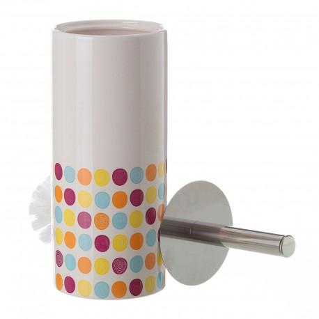 Escobillero sons cerámica 10 x 10 x 32 cm .