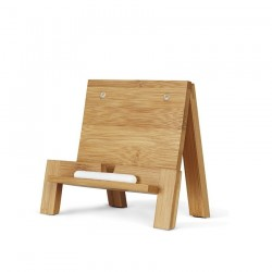 Soporte para tablet en madera Natural Old School 22,00 x 7,50 x 7,50 cm