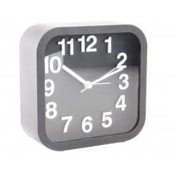 Reloj despertador pvc clasico color negro 13x5x13 cm