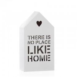 Figura casa con luz de 6 leds blanco 12x5x22 cm -Like