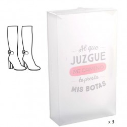 "Cajas plegables de botas de Mujer de Plástico Transparente """"Pack 3 cajas"""""
