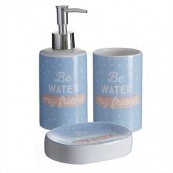 """Accesorios de baño modernos inglés """"BE WATER""""de cerámica para cuarto de baño"""