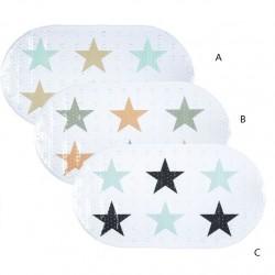 Alfombra baño antideslizante PVC estrellas de color 3/m 70x39x0,1 cm