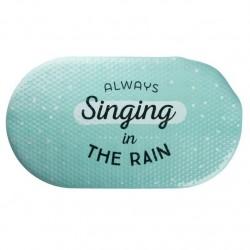 "Alfombra baño antideslizante original con frase ingles """"SINGING"""""