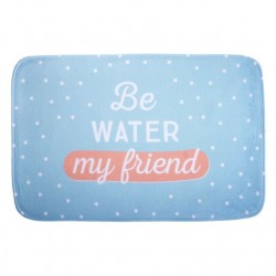 Alfombra multiuso extrasuave moderna diseño frase ingles BE WATER 45x70 cm