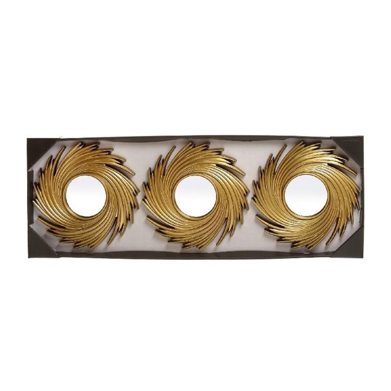 Espejos de pared modernos dorados para decoraci n sol - Espejos dorados modernos ...