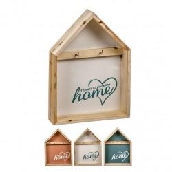 Estantes de llaves en forma de casa de madera 27,5 cm