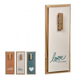 Portanotas madera love 30 cm - Pack 3 piezas
