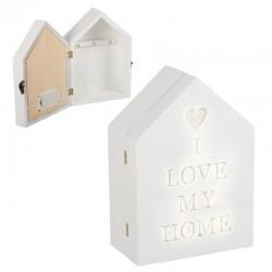 Caja de llaves en forma casa con luz