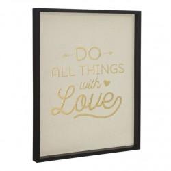 Cuadro decorativo con frase WITH LOVE