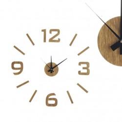 Reloj adhesivo efecto madera nordic .