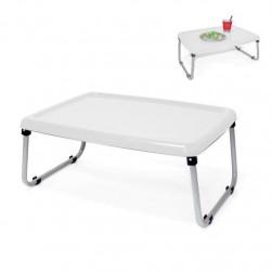 Bandeja cama plegable blanca -54x42x24cm|Plegada: 54x42