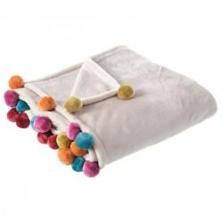 Manta de sofá crema de poliéster para salón fantasy 130x160cm