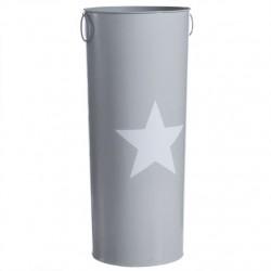 Paragüero original estrella gris Moderno Medida: 23X23X54 CM