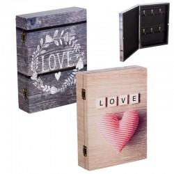 Caja para llaves romantica decorada 20x6x27 cm.