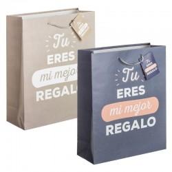 Pack 2 Bolsas papel L Mi mejor regalo