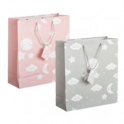 Pack 2 Bolsas de regalo papel infantil NUBE m