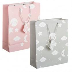 Pack 2 Bolsas de regalo papel infantil NUBE L