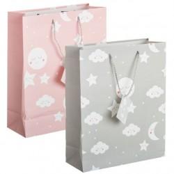 Pack 2 Bolsas de regalo papel infantil NUBE XL