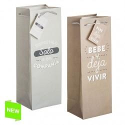 Pack 2 Bolsas de regalo papel para botella