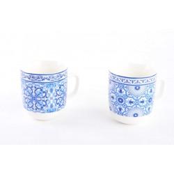 Tazas porcelana diseño original vintage (Set de 2 tazas) 380cc