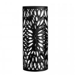 Paragüero moderno metal negro. 19,50 x 19,50 x 49 cm