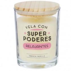 """Vela aromatica """"SUPERPODERES"""" duracion 70 HORAS"""