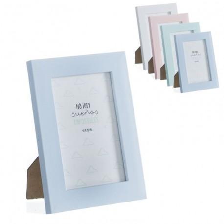Portafotos plastico moderno diseño original frases 10x15 cm