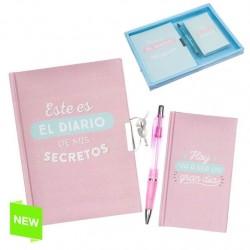 """Juego Diario + libreta + boligrafo frases original """"FOLLOW"""""""