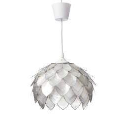 Lámpara de techo vintage en blanco para salón.