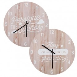 "Reloj de pared madera diseño nordico ""FOLLOW"""