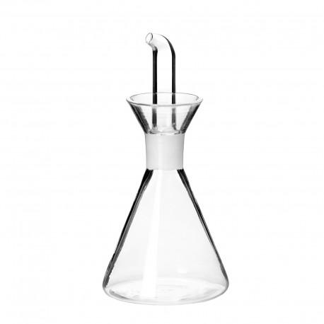 Aceitera antigoteo cristal 7,50 x 7,50 x 16,50 cm capacidad: 125 cc. en caja de color