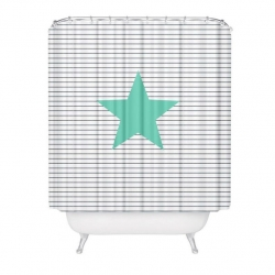 "Cortina baño moderno diseño ""MARINE"" 100% poliester 180 x 200cm"