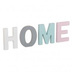 Letras madera decorativas HOME color.