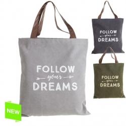 """Bolsa unisex modernos """"FOLLOW YOUR DREAMS"""" 3/c"""