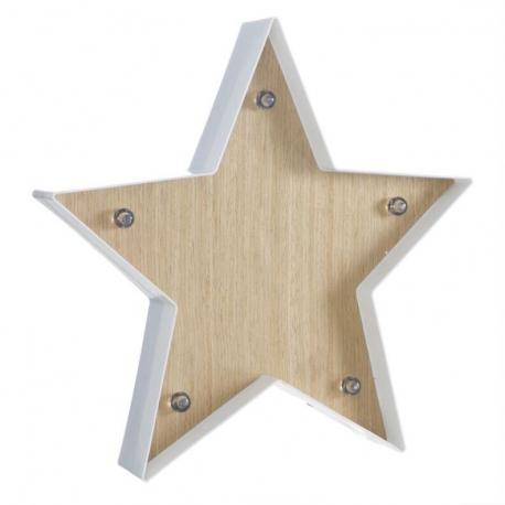 Decoracion cuadro leds diseño estrella Medida: 34,5X4,7X34,5 CM
