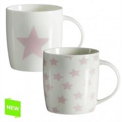 Tazas original diseño estrellas rosa (Set de 2 mug )