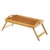Bandeja cama plegable con patas bambú natural 50 x 30 x 22 cm