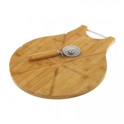Tabla para cortar pizza con cortador 38 x 32 x 1,50 cm cortador 6 x 17,50 cm.