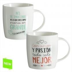 Tazas diseño original frases positivas (Set de 2 mug )